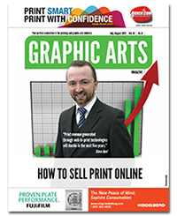 Slava Apel on the cover of Graphic Arts Magazine for Digital Marketing Feature