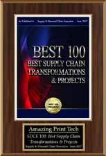 Amazing101 Award | Best 100 Supply Chain Transformations & Projects