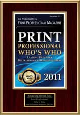2011 Who's Who, Leading Industry Suppliers | Amazing 101