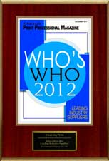 2012 Who's Who, Leading Industry Suppliers | Amazing 101